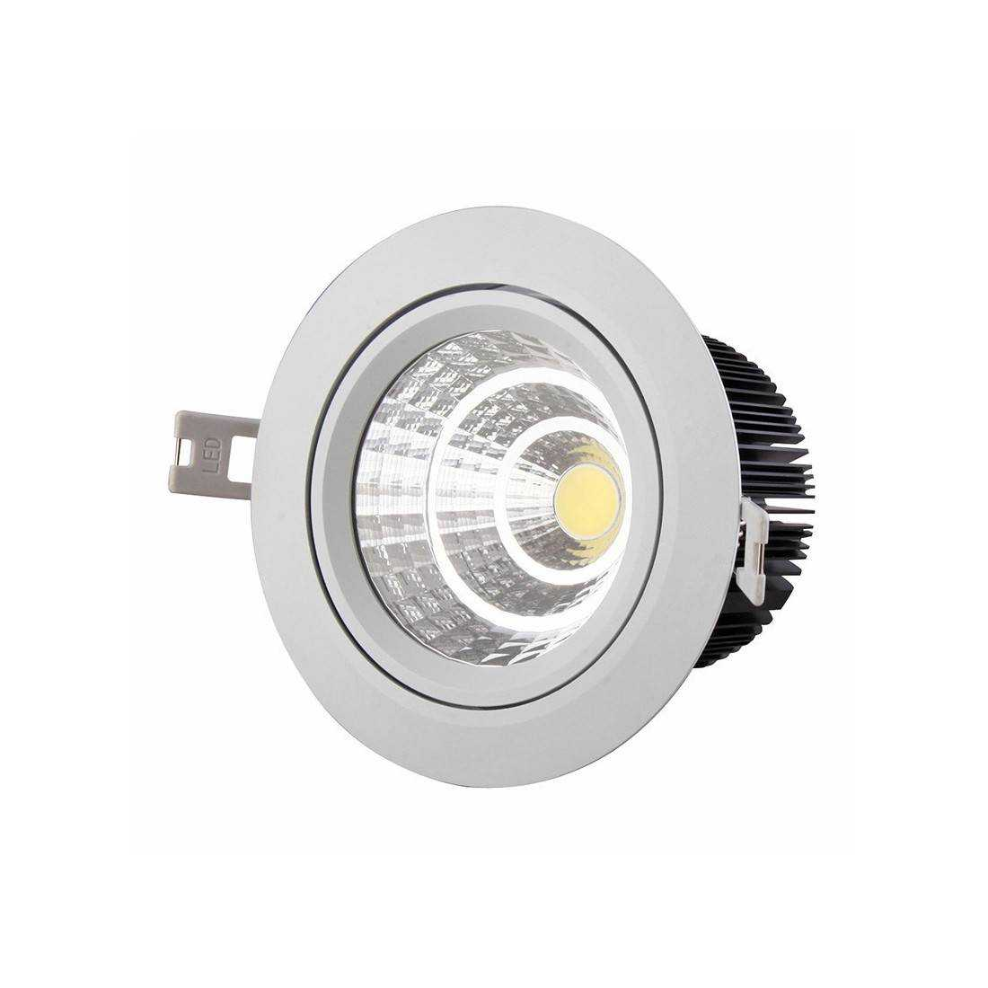 Spot led cob encastrable 7w 230v for Spot exterieur led encastrable