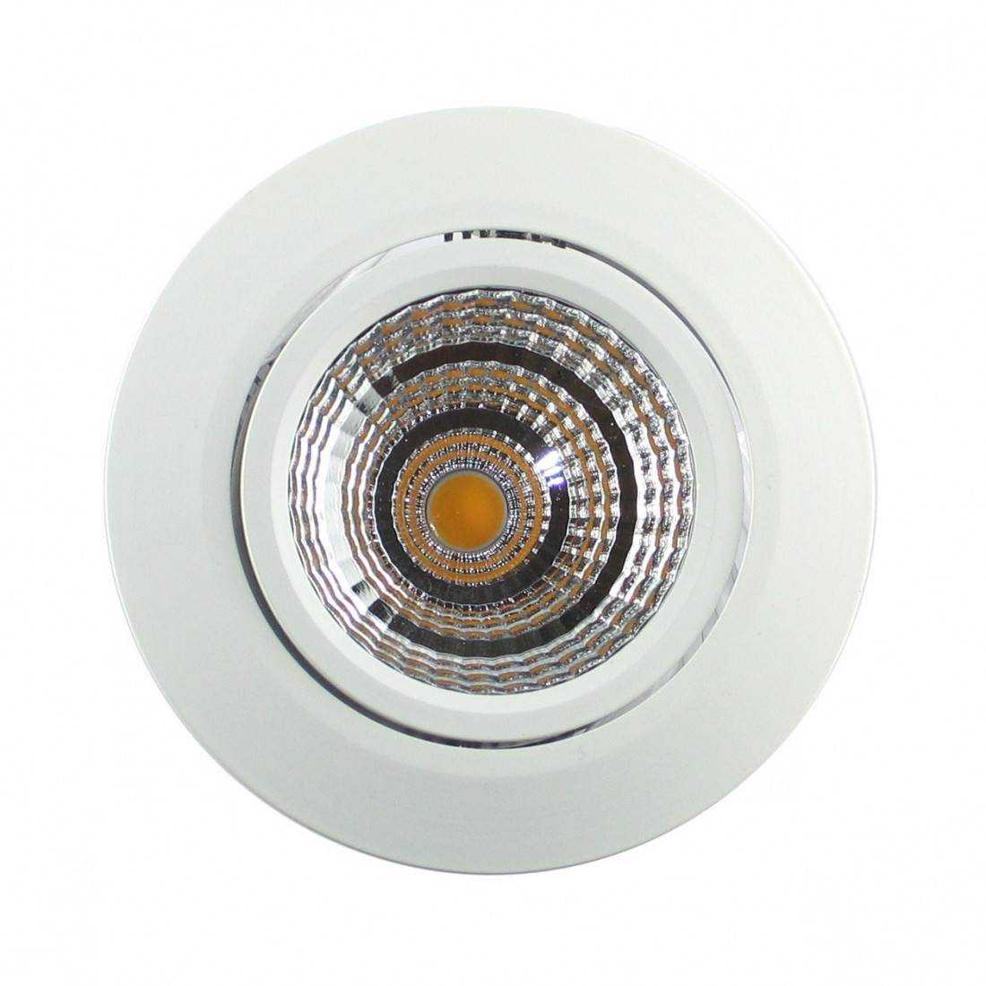 Spot led blanc encastrable 7w 230v for Spot led interieur encastrable