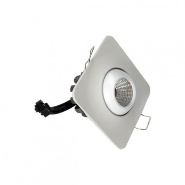 Mini spot LED Blanc Carré Encastrable 3W