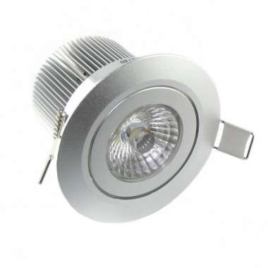 Spot LED Aluminium encastrable 7W - Sans alimentation