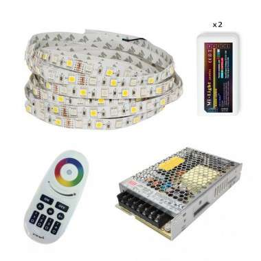 Pack ruban LED RGB+W - Tactile - Fils - 5m