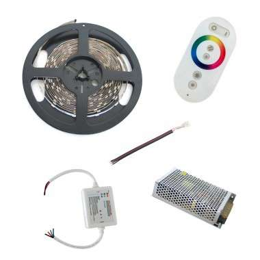 Pack ruban LED RGB - Tactile - Fils - 20m